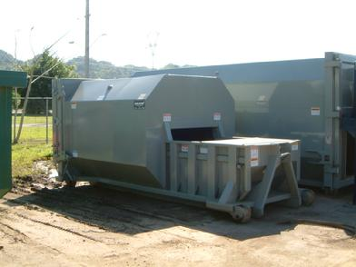 RJ88-SC Self Contained Compactor - 15 cubic Yard  Unit for Hook Lift System